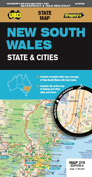 New South Wales State & Cities Map 219 8th ed (waterproof)