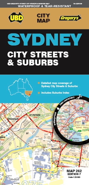 Sydney City Streets & Suburbs Map 262 7th ed