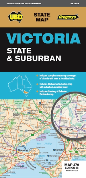 Victoria State & Suburban Map 370 28th ed