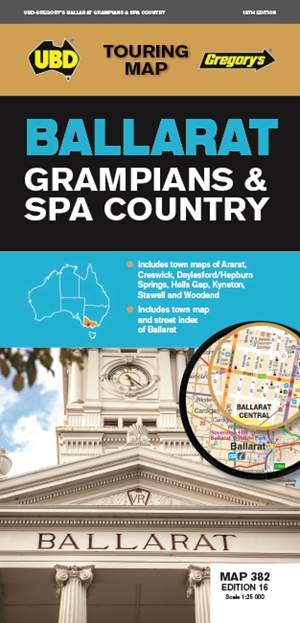 Ballarat Grampians Spa Country Map 382 16th ed