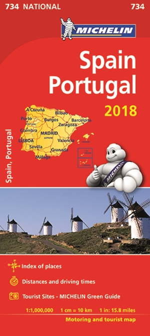 Spain & Portugal Map 2018