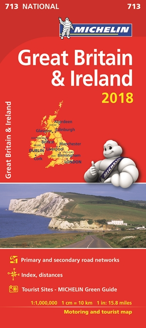 Great Britain & Ireland Map 2018