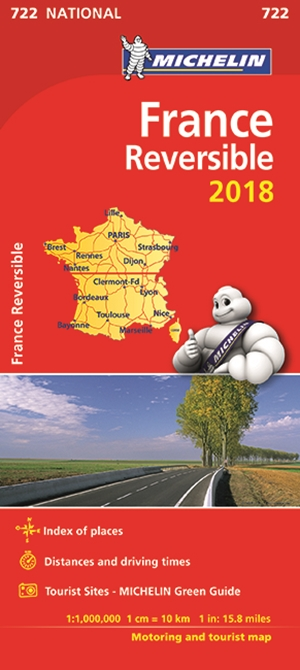 France Reversible Map 2018