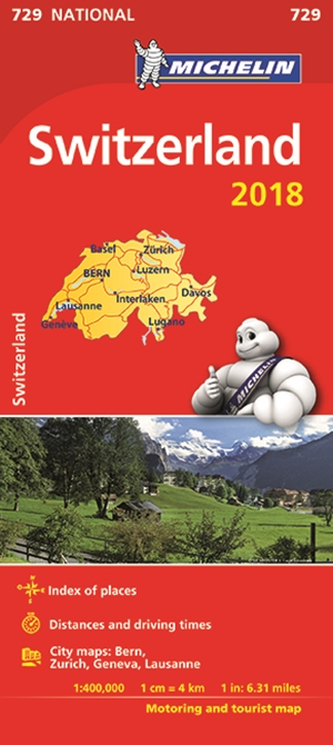 Switzerland Map 2018