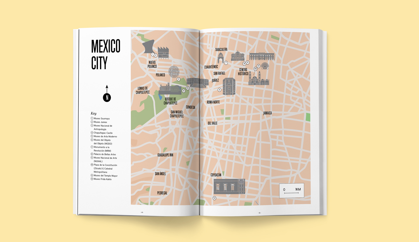 art and fiesta in mexico city map