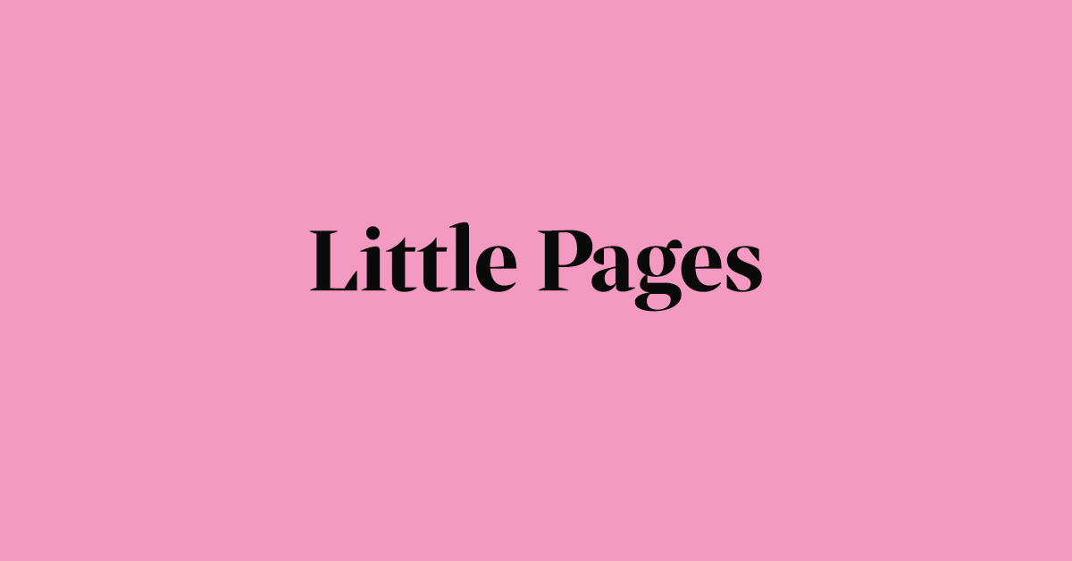 Welcome to the Little Pages Blog