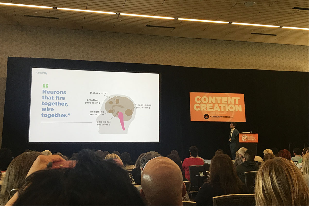 A content marketing world talk