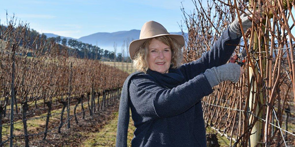 Rosemary Bennett of Home Hill winery in Tasmania