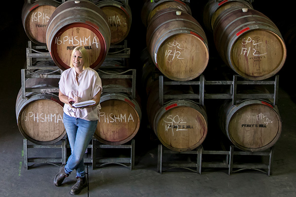 Winemaker Alexia Roberts of Penny's Hill