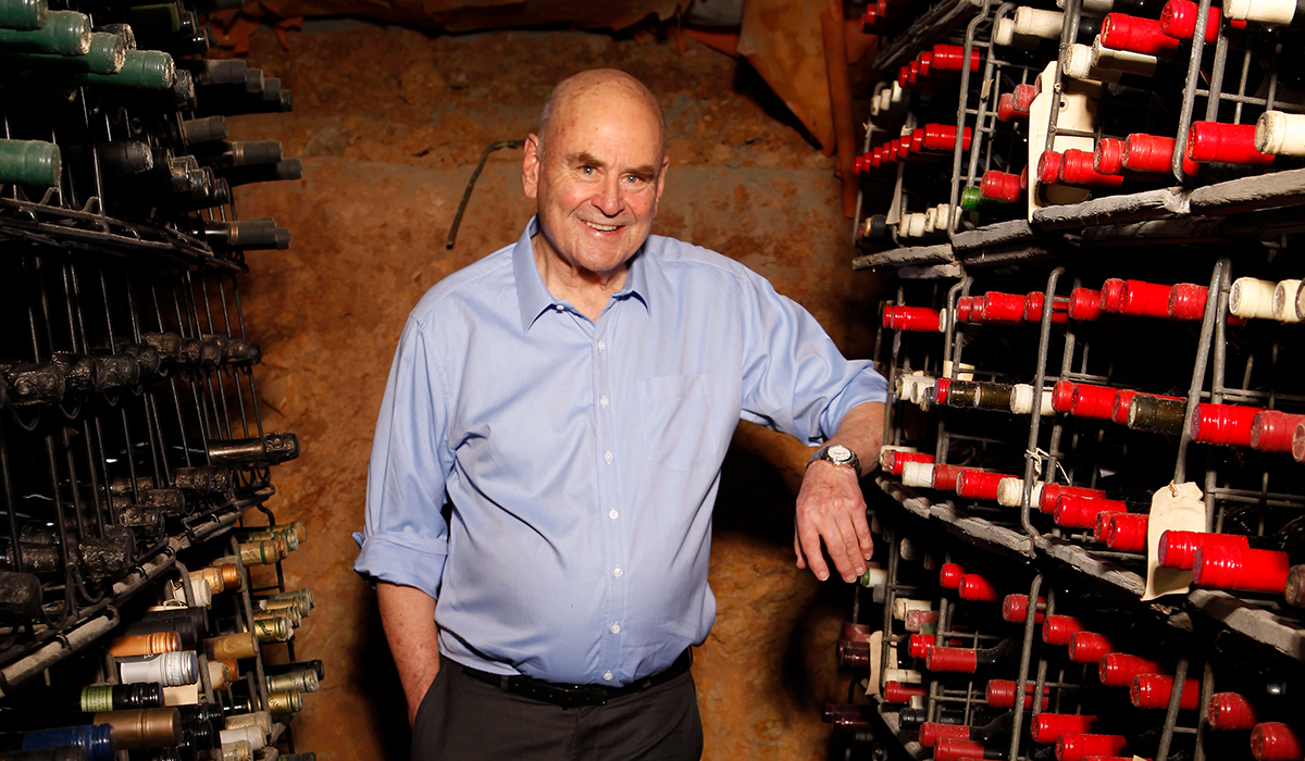 James Halliday in the cellar