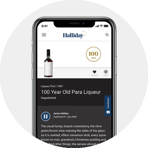 Halliday Wine Companion Tasting Note on Mobile