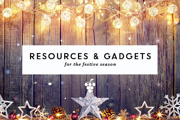 Resources and gadgets - gold lights and Christmas stars