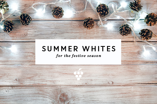 Summer whites - white lights and pine cones