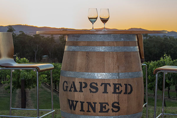 Sunset at Gapsted Wines