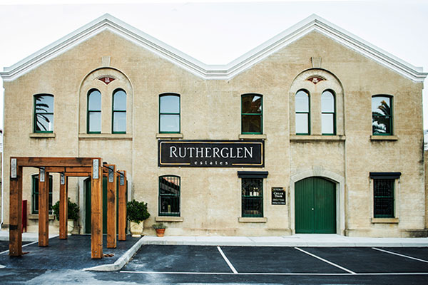Historic winery building at Rutherglen Estates