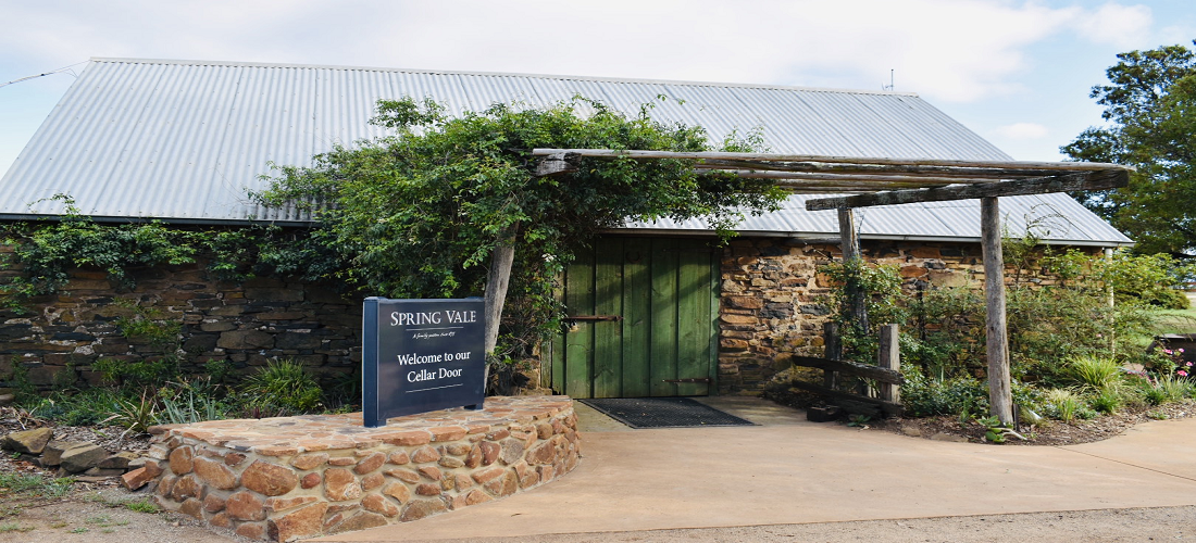 Out the front of the Spring Vale cellar door