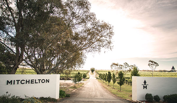 Entrance to Mitchelton winery in Central Victoria