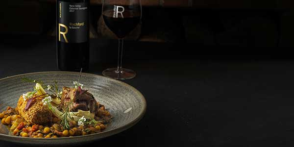 Rochford Wines restaurant lamb dish