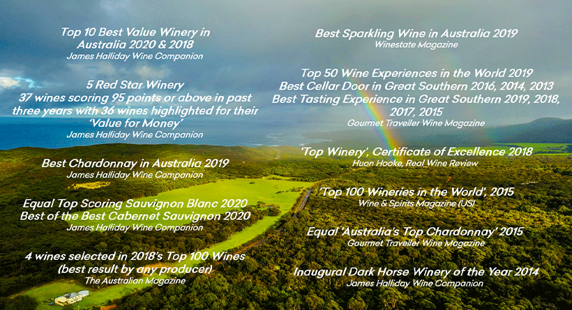 Singlefile Wines Honour Board