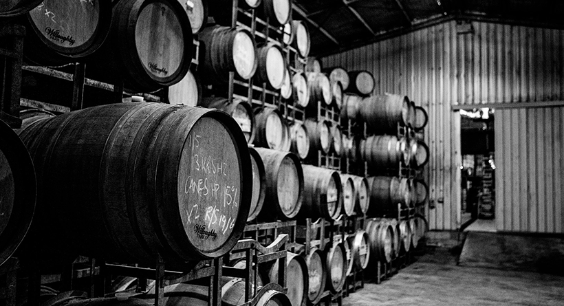 Willoughby Park cellar door and barrels